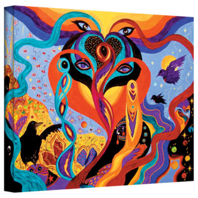 Brushstone Karmic Lovers Gallery Wrapped Canvas Wall Art