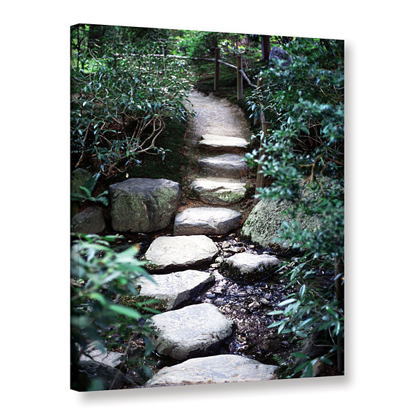 Brushstone Japanese Garden Path Gallery Wrapped Canvas