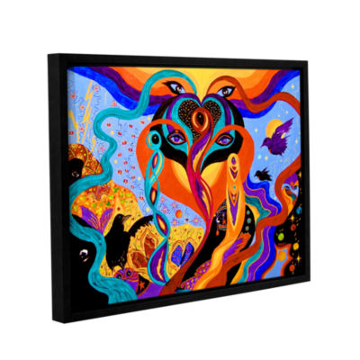 Brushstone Karmic Lovers Gallery Wrapped Floater-Framed Canvas Wall Art