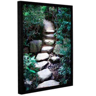 Brushstone Japanese Garden Path Gallery Wrapped Floater-Framed Canvas