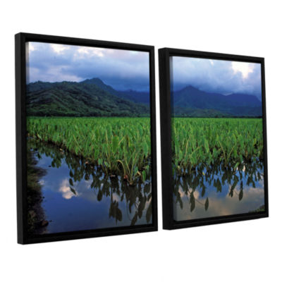 Brushstone Kauai Taro Field 2-pc. Floater Framed Canvas Wall Art