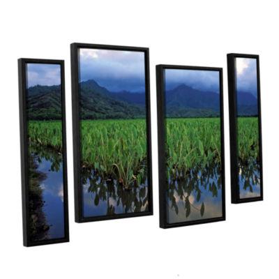 Brushstone Kauai Taro Field 4-pc. Floater Framed Staggered Canvas Wall Art