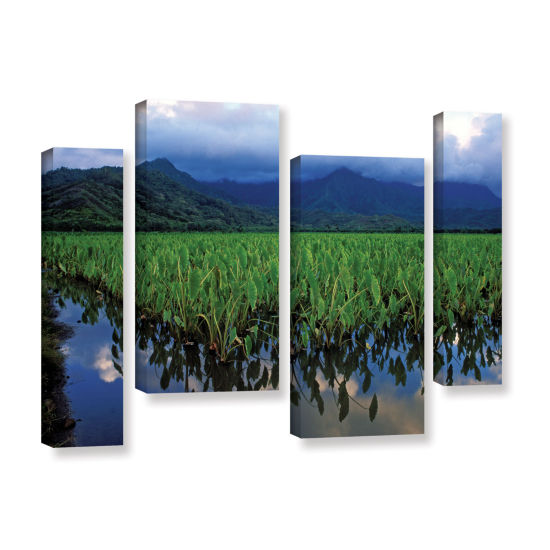 Brushstone Kauai Taro Field 4-pc. Gallery WrappedStaggered Canvas Wall Art