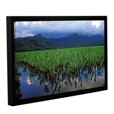 Brushstone Kauai Taro Field Gallery Wrapped Floater-Framed Canvas Wall Art