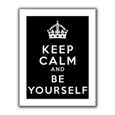 Brushstone Keep Calm And Be Yourself Canvas Wall Art