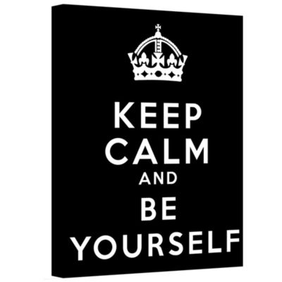 Brushstone Keep Calm And Be Yourself Gallery Wrapped Canvas Wall Art