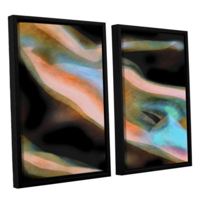 Brushstone Jazstract 2-pc. Floater Framed Canvas Set