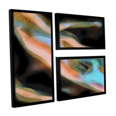 Brushstone Jazstract 3-pc. Flag Floater Framed Canvas Wall Art