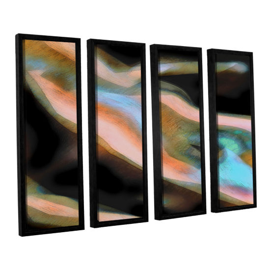Brushstone Jazstract 4-pc. Floater Framed Canvas Set