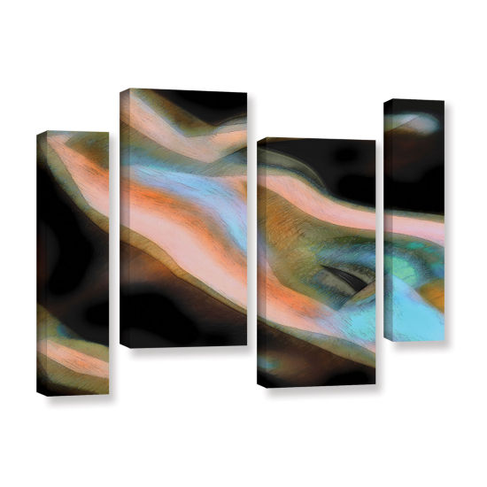 Brushstone Jazstract 4-pc. Gallery Wrapped CanvasStaggered Set