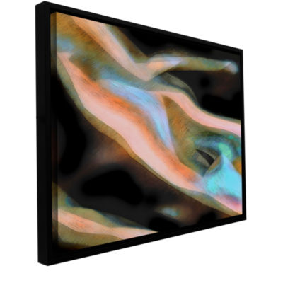 Brushstone Jazstract Gallery Wrapped Floater-Framed Canvas