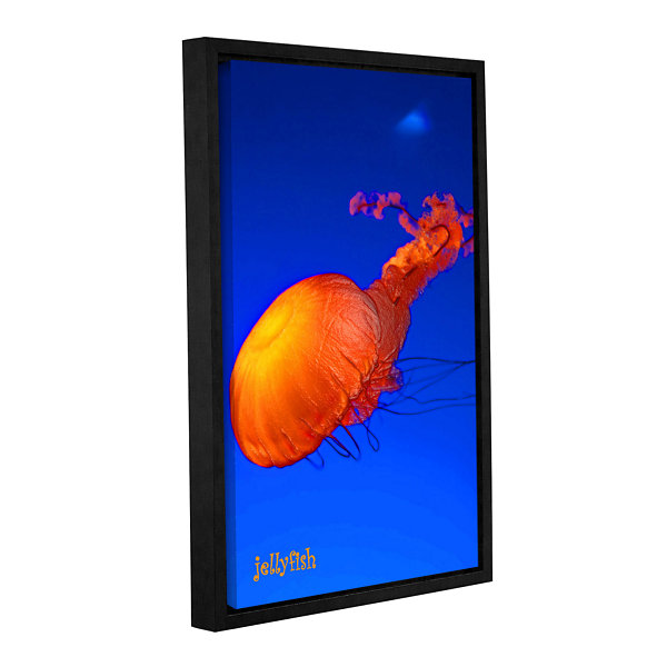 Brushstone Jelly Fish Gallery Wrapped Floater-Framed Canvas