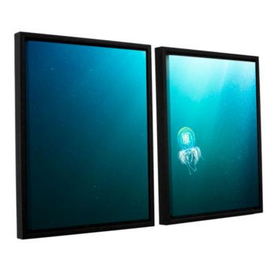 Brushstone Jellyfish 2-pc. Floater Framed Canvas Set