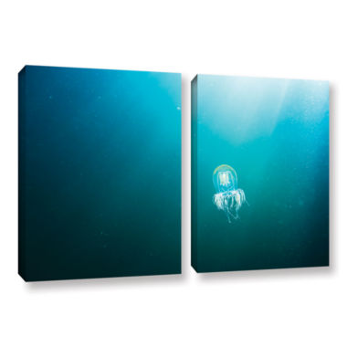 Brushstone Jellyfish 2-pc. Gallery Wrapped CanvasSet