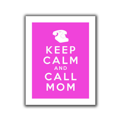 Brushstone Keep Calm And Call Mom Canvas Wall Art