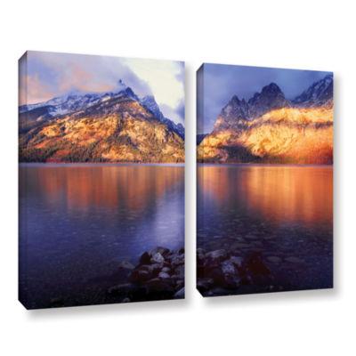 Brushstone Jenny Lake Sunrise 2-pc. Gallery Wrapped Canvas Set