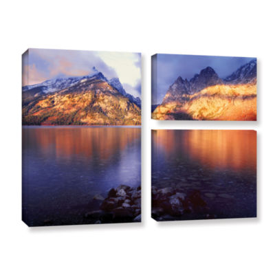 Brushstone Jenny Lake Sunrise 3-pc. Flag Gallery Wrapped Canvas Wall Art