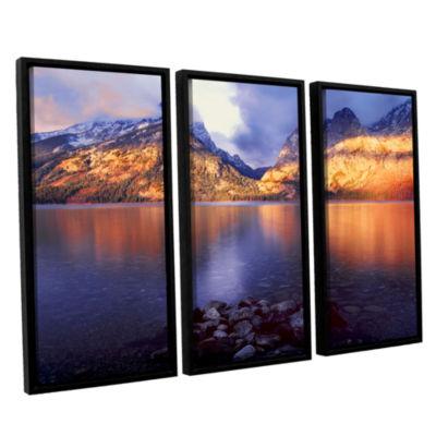 Brushstone Jenny Lake Sunrise 3-pc. Floater FramedCanvas Wall Art