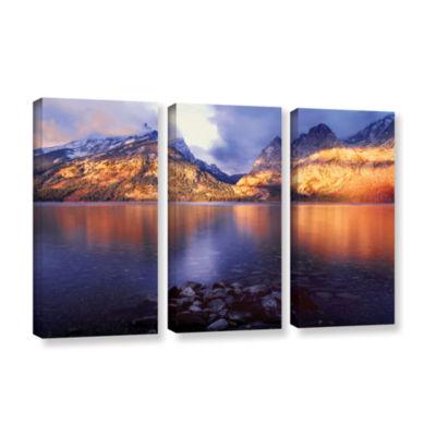 Brushstone Jenny Lake Sunrise 3-pc. Gallery Wrapped Canvas Wall Art