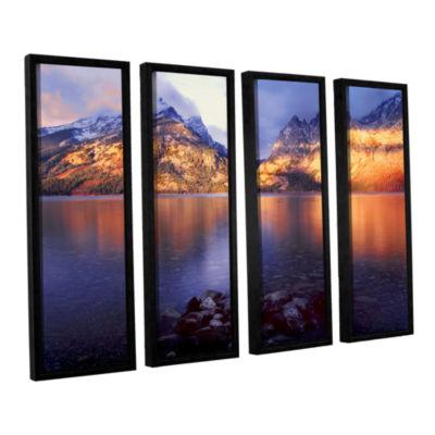 Brushstone Jenny Lake Sunrise 4-pc. Floater FramedCanvas Set