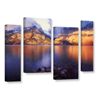 Brushstone Jenny Lake Sunrise 4-pc. Gallery Wrapped Canvas Staggered Set