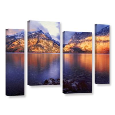 Brushstone Jenny Lake Sunrise 4-pc. Gallery Wrapped Canvas Staggered Set