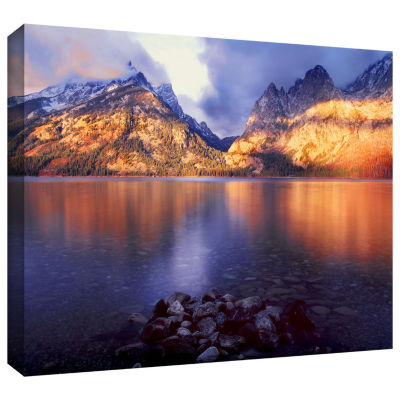 Brushstone Jenny Lake Sunrise Gallery Wrapped Canvas