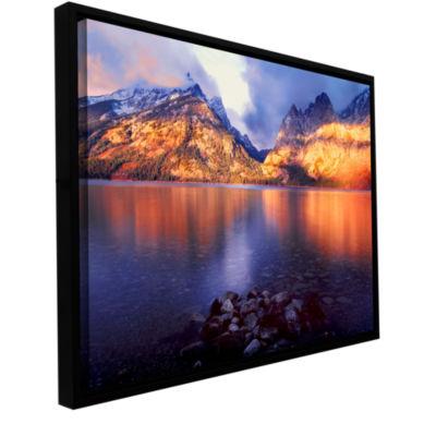 Brushstone Jenny Lake Sunrise Gallery Wrapped Floater-Framed Canvas
