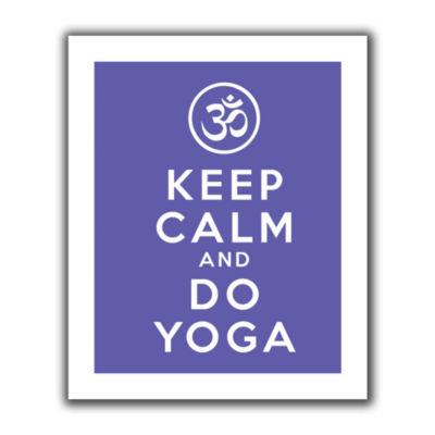 Brushstone Keep Calm And Do Yoga Canvas Wall Art