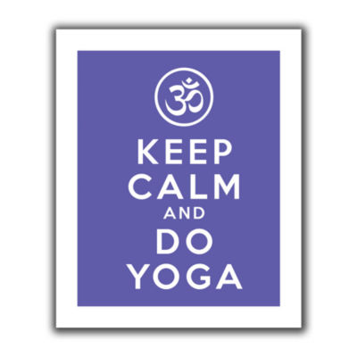 Brushstone Keep Calm And Do Yoga Canvas Wall Art