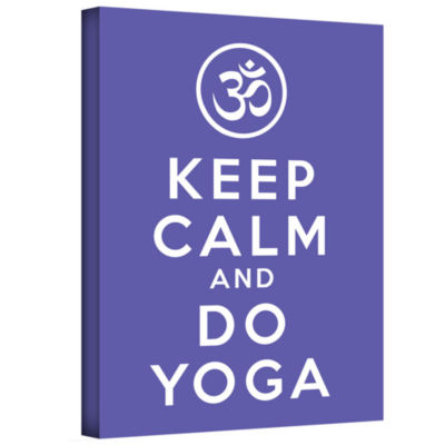 Brushstone Keep Calm And Do Yoga Gallery Wrapped Canvas Wall Art