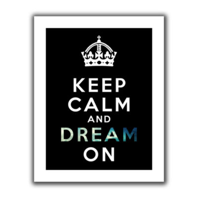 Brushstone Keep Calm And Dream On Canvas Wall Art
