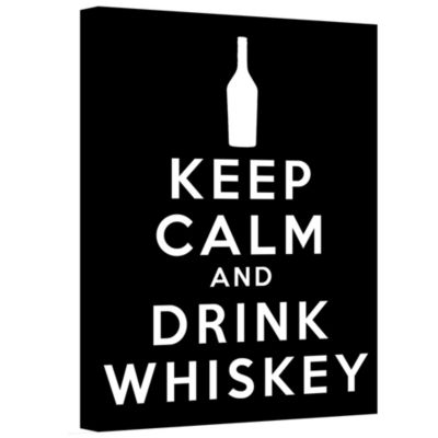 Brushstone Keep Calm And Drink Whiskey (Black) Gallery Wrapped Canvas Wall Art
