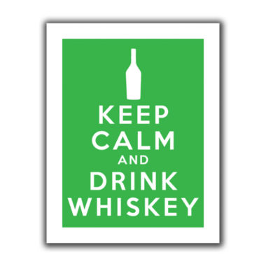 Brushstone Keep Calm And Drink Whiskey (Green) Canvas Wall Art