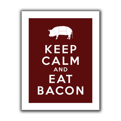 Brushstone Keep Calm And Eat Bacon Canvas Wall Art