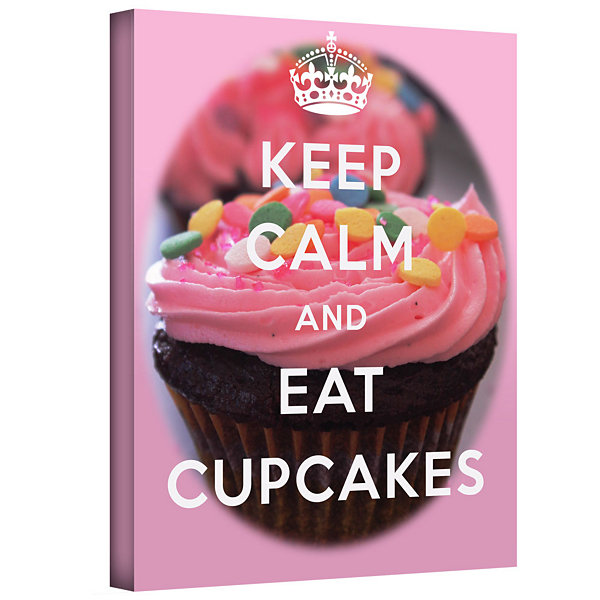 Brushstone Keep Calm And Eat Cupcakes Gallery Wrapped Canvas Wall Art