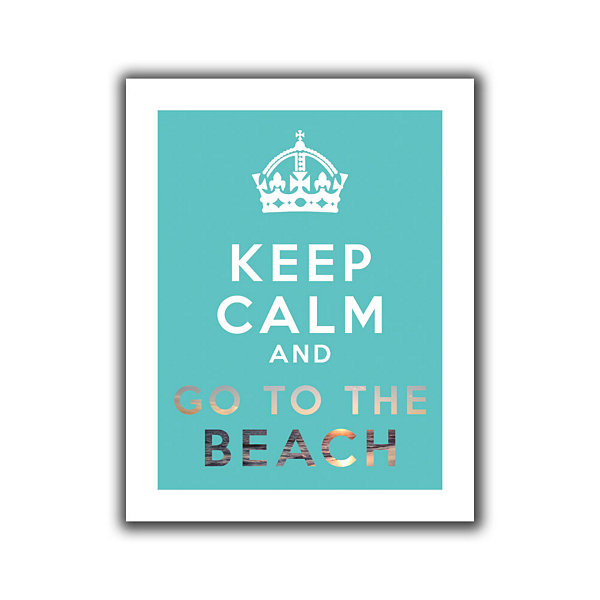 Brushstone Keep Calm And Go To The Beach Canvas Wall Art