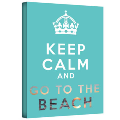 Brushstone Keep Calm And Go To The Beach Gallery Wrapped Canvas Wall Art