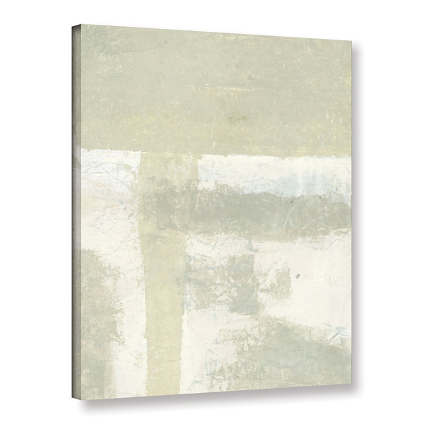 Brushstone Neutral Abstract Gallery Wrapped CanvasWall Art