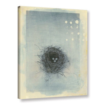 Brushstone Neutral Tone Nest Gallery Wrapped Canvas Wall Art