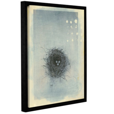 Brushstone Neutral Tone Nest Gallery Wrapped Floater-Framed Canvas Wall Art