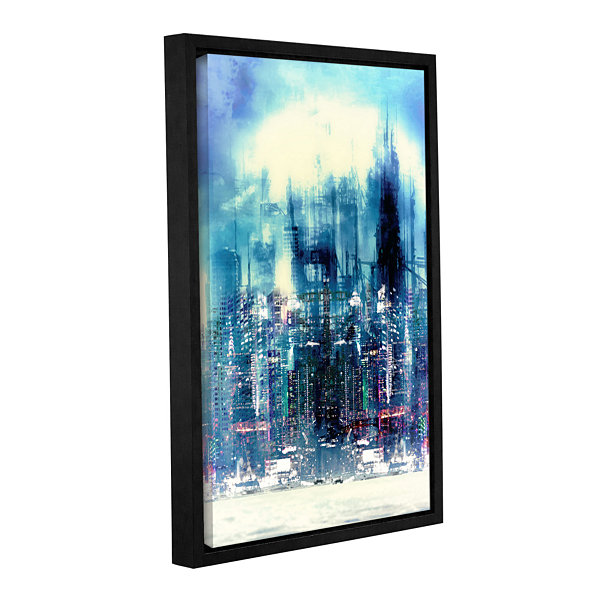 Brushstone New City Gallery Wrapped Floater-FramedCanvas Wall Art