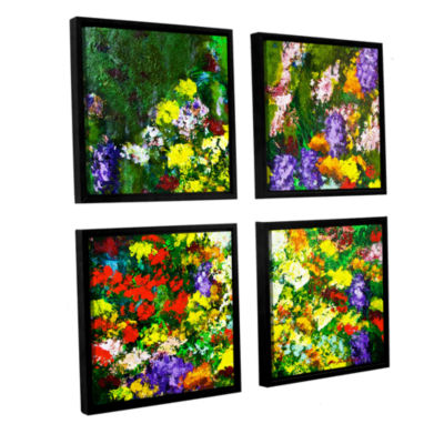 Brushstone New Orleans 4-pc. Square Floater FramedCanvas Wall Art