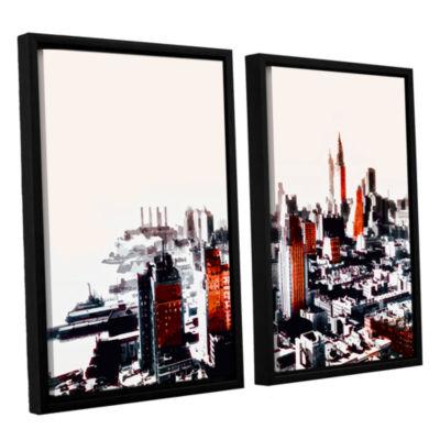Brushstone New York 2-pc. Floater Framed Canvas Wall Art