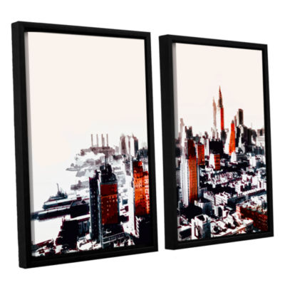 Brushstone New York 2-pc. Floater Framed Canvas Wall Art