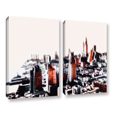 Brushstone New York 2-pc. Gallery Wrapped Canvas Wall Art