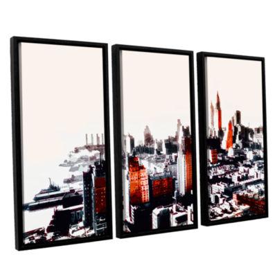 Brushstone New York 3-pc. Floater Framed Canvas Wall Art