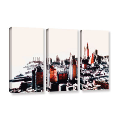 Brushstone New York 3-pc. Gallery Wrapped Canvas Wall Art