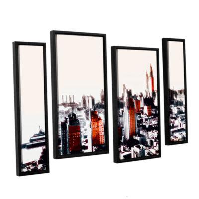 Brushstone New York 4-pc. Floater Framed StaggeredCanvas Wall Art
