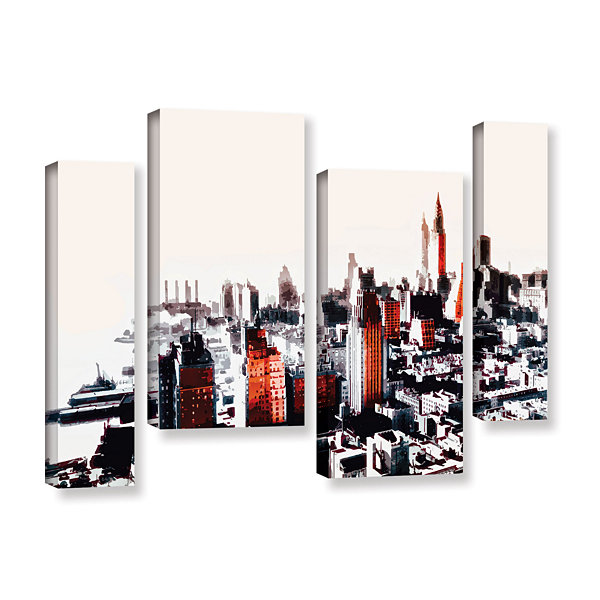 Brushstone New York 4-pc. Gallery Wrapped Staggered Canvas Wall Art